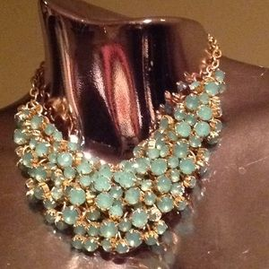 Jewelry - Aquamarine Faux Crystal Necklace